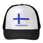 Bandera de Sverigefinska con nombre Gorros Bordados