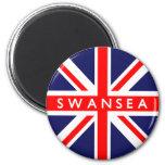 Bandera de Swansea Reino Unido Iman