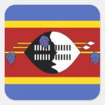 Bandera de Swazilandia Calcomanía Cuadradas