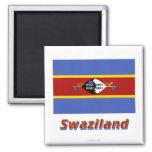 Bandera de Swazilandia con nombre Imanes Para Frigoríficos
