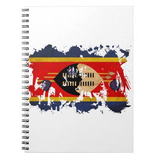 Bandera de Swazilandia Libreta Espiral