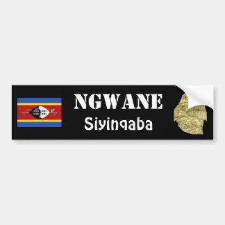 Bandera de Swazilandia + Pegatina para el parachoq Etiqueta De Parachoque