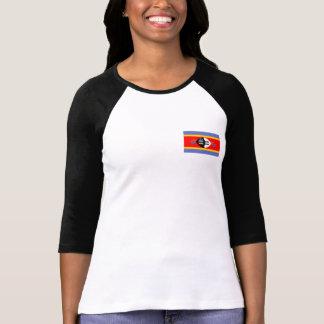 Bandera de Swazilandia Remera