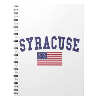 Bandera de Syracuse los E.E.U.U. Libreta
