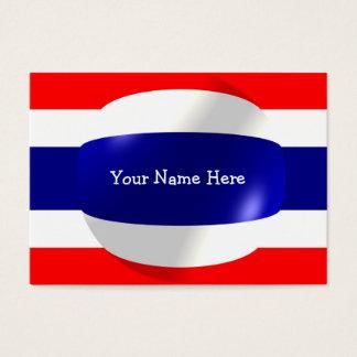 Bandera de Tailandia con la tarjeta de visita de