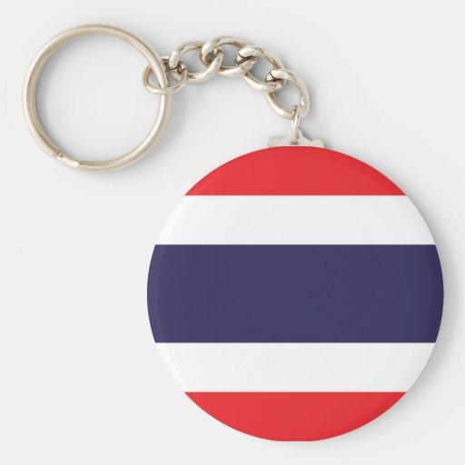 Bandera de Tailandia Llavero Redondo Tipo Pin