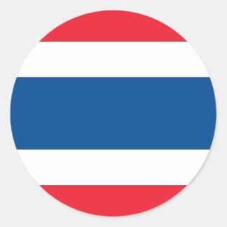 Bandera de Tailandia Pegatina Redonda