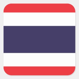 Bandera de Tailandia Pegatina Cuadrada