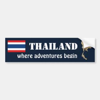 Bandera de Tailandia + Pegatina para el parachoque Etiqueta De Parachoque