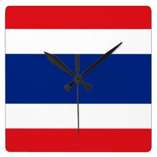 Bandera de Tailandia Reloj Cuadrado