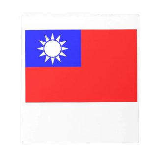Bandera de Taiwán Bloc De Notas