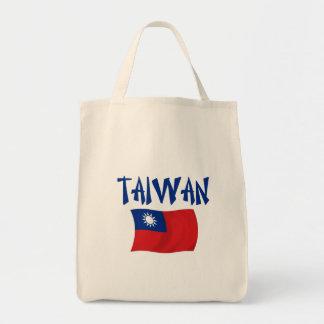 Bandera de Taiwán Bolsa Tela Para La Compra