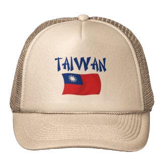 Bandera de Taiwán Gorros Bordados
