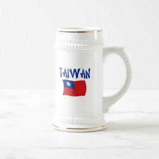 Bandera de Taiwán Jarra De Cerveza