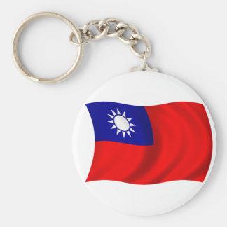 Bandera de Taiwán Llavero Personalizado