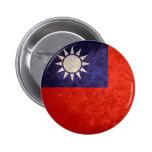 Bandera de Taiwán Pin Redondo 5 Cm