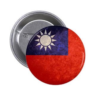 Bandera de Taiwán Pin Redondo De 2 Pulgadas
