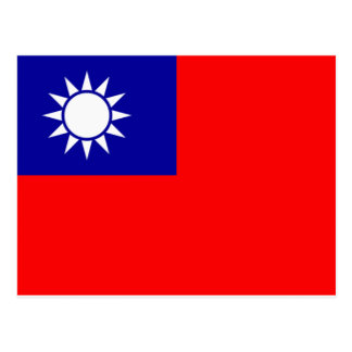 Bandera de Taiwán Tarjetas Postales