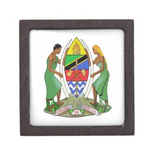 Bandera de Tanzania Cajas De Joyas De Calidad