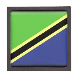 Bandera de Tanzania Caja De Regalo De Calidad