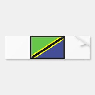Bandera de Tanzania Etiqueta De Parachoque
