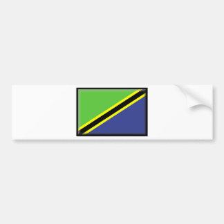 Bandera de Tanzania Pegatina De Parachoque