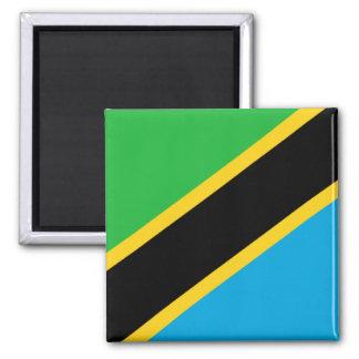 Bandera de Tanzania Imán Cuadrado
