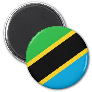 Bandera de Tanzania Imán Redondo 5 Cm