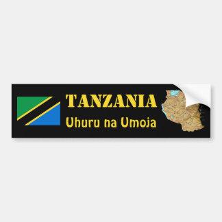 Bandera de Tanzania + Pegatina para el parachoques Pegatina De Parachoque