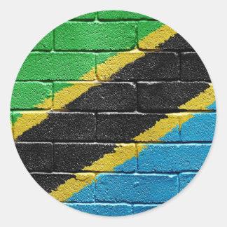 Bandera de Tanzania Pegatinas Redondas