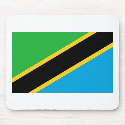 Bandera de Tanzania Tapetes De Ratón