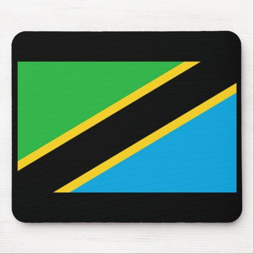 Bandera de Tanzania Alfombrillas De Ratones