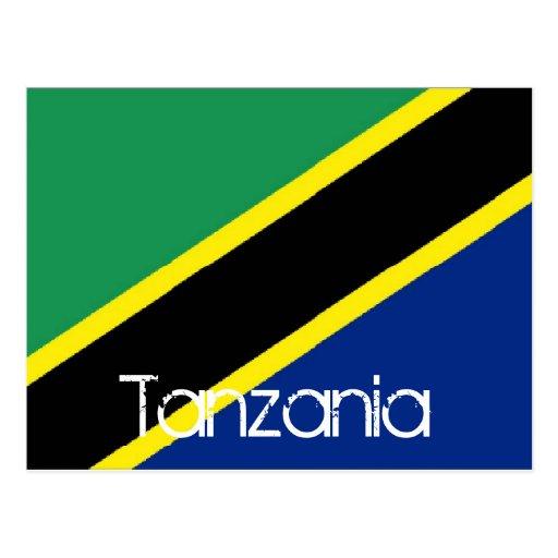 Bandera de Tanzania Tarjeta Postal