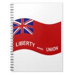 Bandera de Taunton que agita Libros De Apuntes Con Espiral