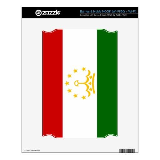 Bandera de Tayikistán NOOK Calcomanía