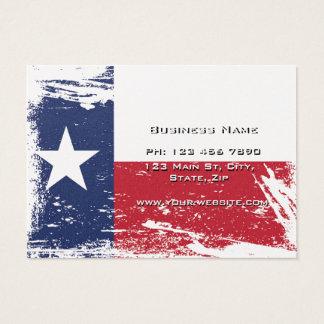 Bandera de Tejas del Grunge Tarjetas De Visita Grandes