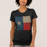 Bandera de Tejas del vintage Camisetas