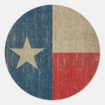 Bandera de Tejas del vintage Pegatina Redonda