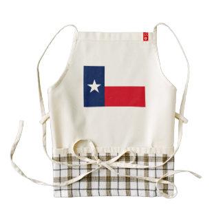 Bandera de TEJAS Delantal Zazzle HEART