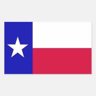 Bandera de Tejas Pegatina Rectangular