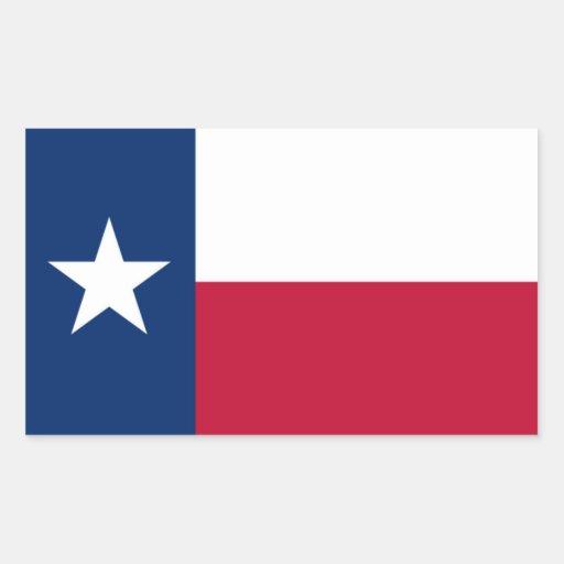 Bandera de Tejas Etiqueta