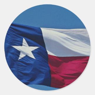 Bandera de Tejas Pegatinas Redondas