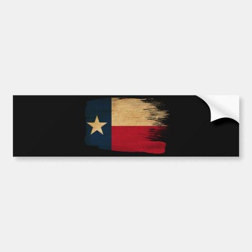 Bandera de Tejas Pegatina De Parachoque