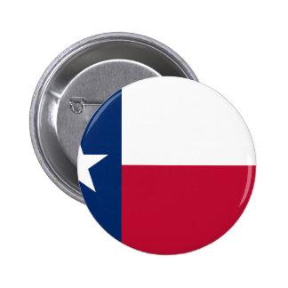 Bandera de Tejas Pin Redondo De 2 Pulgadas