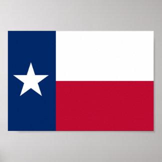 Bandera de Tejas Póster