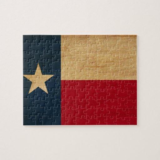 Bandera de Tejas Rompecabeza Con Fotos