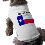 Bandera de Tejas Ropa De Perro