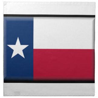 Bandera de Tejas Servilleta Imprimida