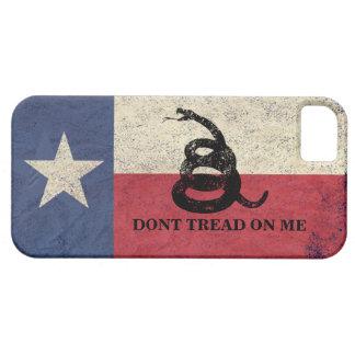 Bandera de Tejas y de Gadsden iPhone 5 Case-Mate Carcasa