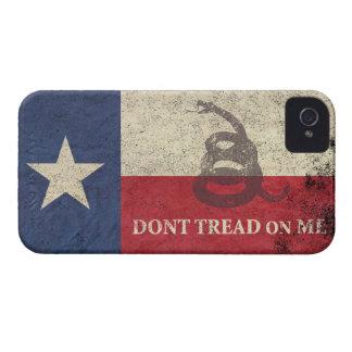 Bandera de Tejas y de Gadsden Case-Mate iPhone 4 Cobertura